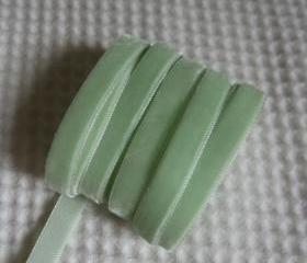 3 Yards Soft Green Ribbon 3/8 inch - 36