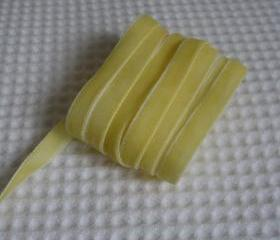 3 Yards Yellow Velvet Ribbon 3/8 inch - 05